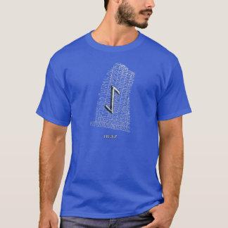 Iwaz Runesymbol auf WestRok runestone T-Shirt