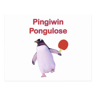 iWin uLose Pinguin-Klingeln Pong Postkarte