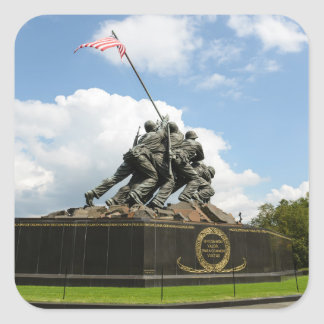 Iwojima-Denkmal im Washington DC Quadratischer Aufkleber