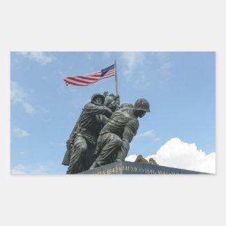 Iwojima-Denkmal im Washington DC Rechteckiger Aufkleber