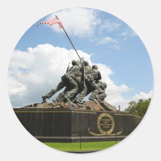 Iwojima-Denkmal im Washington DC Runder Aufkleber
