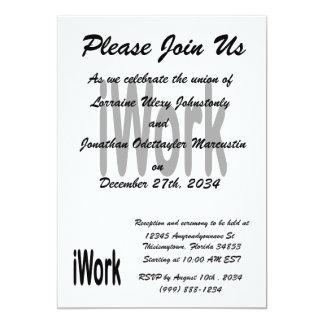 iwork Entwurfsschwarztext 12,7 X 17,8 Cm Einladungskarte