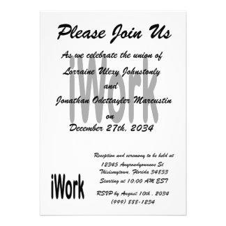 iwork Entwurfsschwarztext Individuelle Einladungskarte