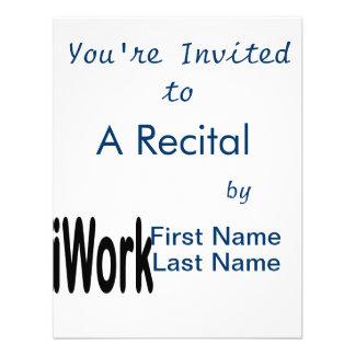 iwork Entwurfsschwarztext Einladungskarte