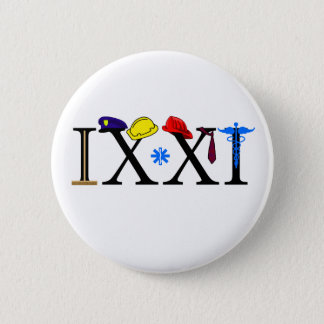 IXXI erinnern Sie sich an 9-11 Runder Button 5,7 Cm