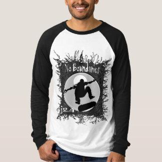 j2a kein Grenzlanges Hülsen-Skatert-stück T-Shirt