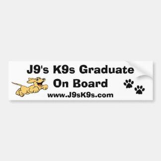 J9 K9s Absolvent an Bord des Autoaufklebers Autoaufkleber