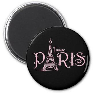J aime Paris dunkler Magnet Magnets