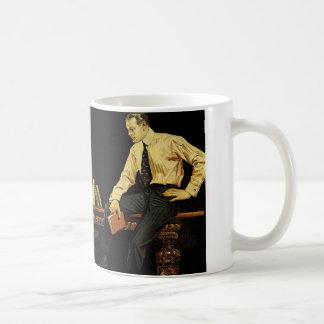 J.C.Leyendecker Anzeige für Pfeil-Krägen from 1910 Kaffeetasse