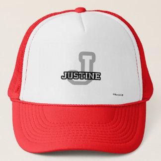 J ist für Justine Truckerkappe