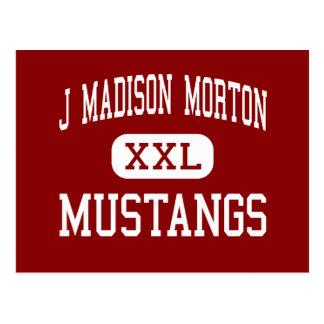 J Madison Morton - Mustangs - Mitte - Fall-River Postkarte