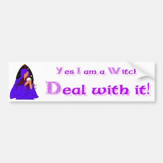 Ja bin ich ein Hexe-Abkommen mit ihm! Autoaufkleber