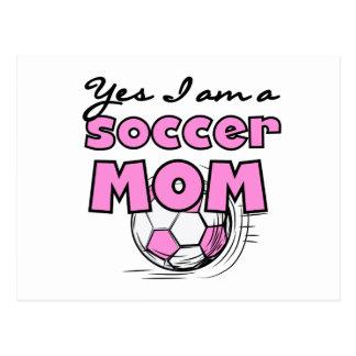 Ja bin ich eine Fußball-Mamma-T - Shirts und Postkarte