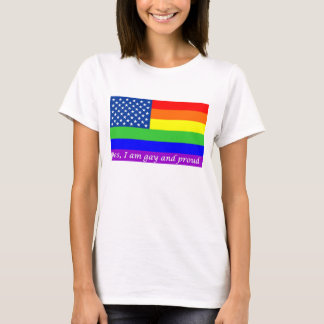 """""""Ja, bin ich homosexueller und stolzer"""" Facebook T-Shirt"""