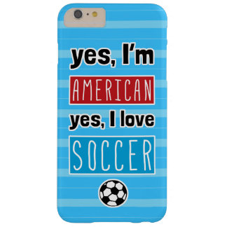 Ja bin ich, ja ich Liebe-Fußball amerikanisch Barely There iPhone 6 Plus Hülle