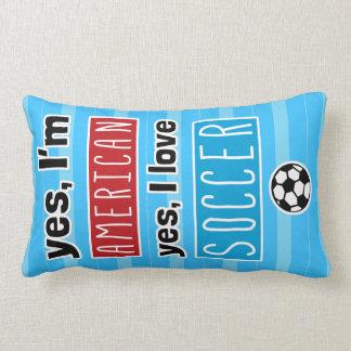 Ja bin ich, ja ich Liebe-Fußball amerikanisch Lendenkissen