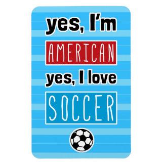 Ja bin ich, ja ich Liebe-Fußball amerikanisch Magnet