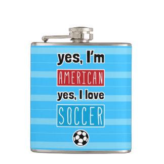 Ja bin ich, ja ich Liebe-Fußball-angesagte Flasche Flachmann