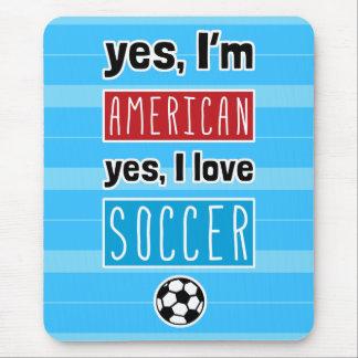 Ja bin ich, ja ich Liebe-Fußball Mousemat Mauspads