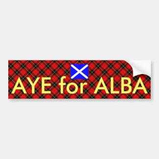 Ja für Tartan-alba schottischen Autoaufkleber