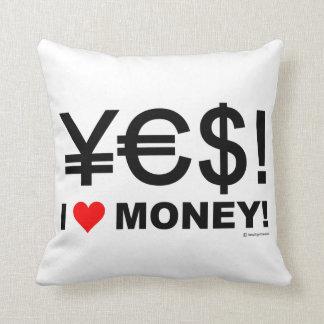 Ja! Geld der Liebe I! Kissen