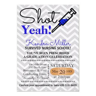 Ja geschossen! Blauer Krankenpflege-SchulAbschluss Karte