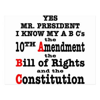 Ja Herr Präsident, den ich kenne, dass mein ABCs Postkarte