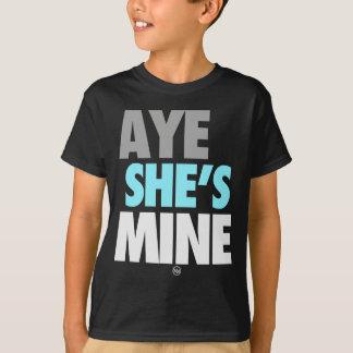 Ja ist He/She meins (cyan-blau) T-Shirt