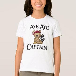 Ja ja Bärn-Piraten-Wecker-T - Shirt Kapitän-Teddy