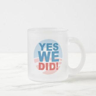 Ja können wir und ja taten wir matte glastasse