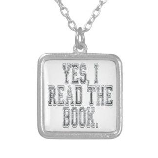 Ja las ich das Buch-Grau Versilberte Kette