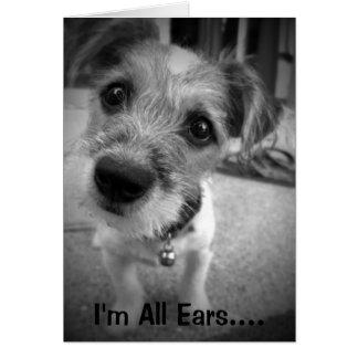 Ja Meister, bin ich alle Ohren Karte