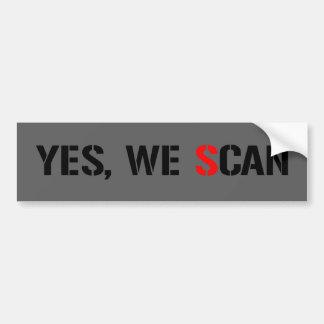 Ja scannen wir NSA-PRISMA Autoaufkleber