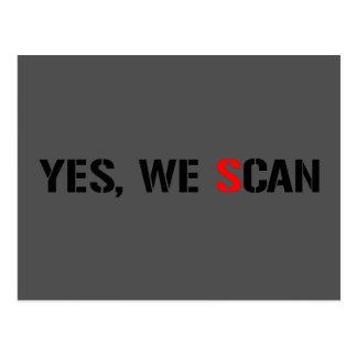 Ja scannen wir NSA-PRISMA Postkarte