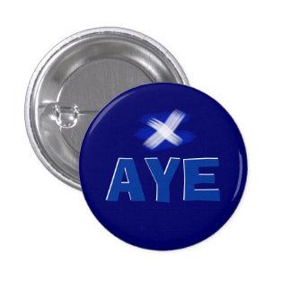 Ja schottisches Unabhängigkeits-Flaggen-Abzeichen Runder Button 3,2 Cm
