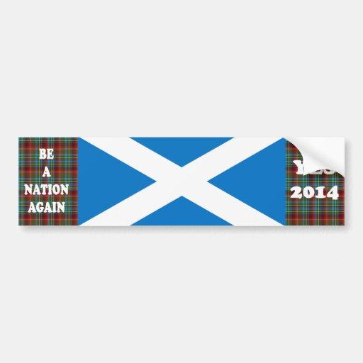 Ja Schottlandtartan-Autoaufkleber