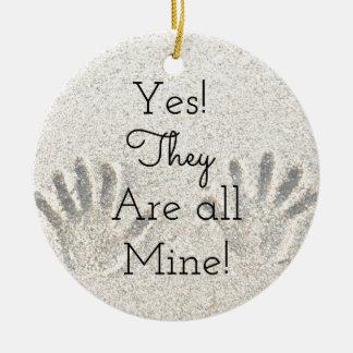 Ja sind sie ALLES Bergwerk! Große Familie Keramik Ornament