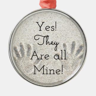 Ja sind sie ALLES Bergwerk! Große Familie Silbernes Ornament
