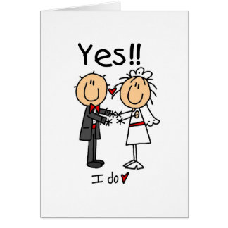 JA tue ich Braut und Bräutigam-T-Shirts und Gesche Grußkarte