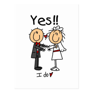 JA tue ich Braut und Bräutigam-T - Shirts und Postkarten
