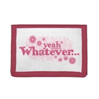 Ja was roter rosa weißer Geldbeutel
