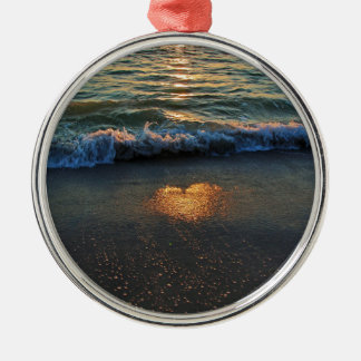 Ja weiß der Ozean Silbernes Ornament