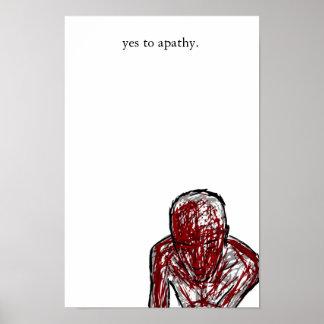 ja zur Apathie Poster