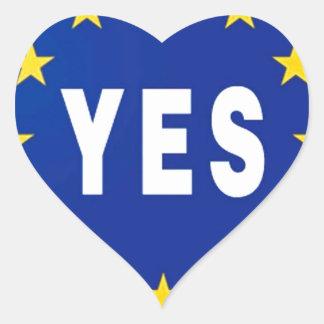 Ja zur EU - Aufenthalt in der europäischen Herz Sticker