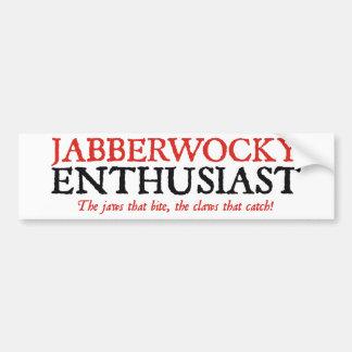 Jabberwocky Enthusiast Autoaufkleber