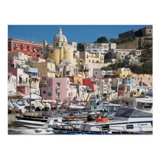 Jachthafen Corricella, Procida, Postkarte Postkarte