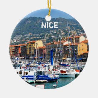 Jachthafen in Nizza, Frankreich Keramik Ornament