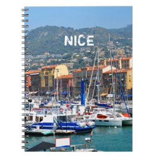 Jachthafen in Nizza, Frankreich Notizblock