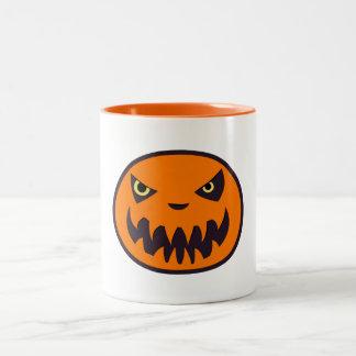 Jack das Laternen-Halloween-Weiß mit der orange Zweifarbige Tasse