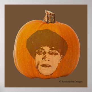 Jack o Laterne Caligari stellen, Halloween-Kürbis Poster